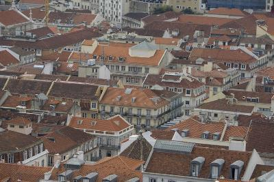 Terracotta Tile Roofs in Downtown Lisbon-Joe Petersburger-Photographic Print