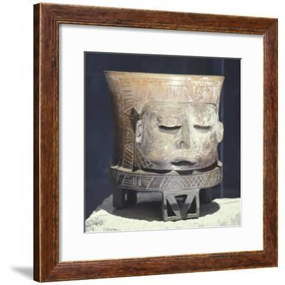 Terracotta Vase Depicting the God Mofletudo--Framed Giclee Print