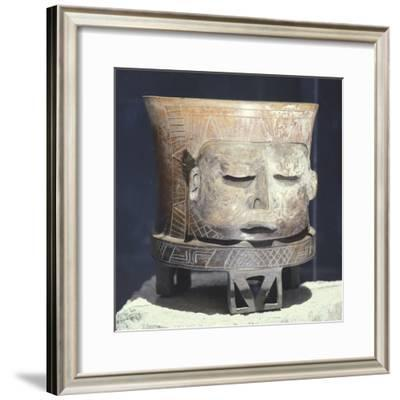 Terracotta Vase Depicting the God Mofletudo--Framed Giclee Print