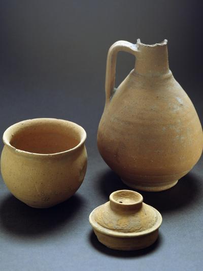 Terracotta Vases from Castelceriolo, Alessandria, Piedmont, Italy, Prehistoric Era--Giclee Print