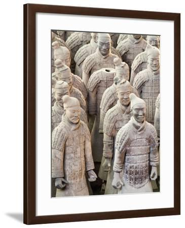 Terracotta Warrior Figures in the Tomb of Emperor Qinshihuang, Xi'An, Shaanxi Province, China-Billy Hustace-Framed Photographic Print