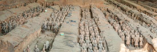 Terracotta Warriors and Horses, Xi'An, Shaanxi Province, China--Photographic Print