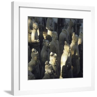 Terracotta Warriors, Close Up-Design Pics Inc-Framed Photographic Print