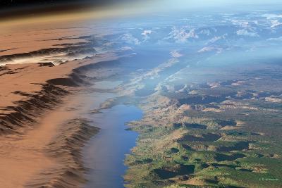Terraformed Mars, Artwork-Detlev Van Ravenswaay-Photographic Print