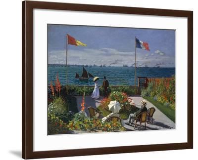 Terrasse À Sainte-Adresse, 1866-1867-Claude Monet-Framed Giclee Print