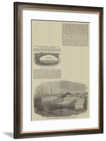Terrible Catastrophe at Bristol, Total Destruction of an Iron Bridge--Framed Giclee Print
