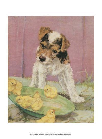 Terrier Trouble II--Art Print