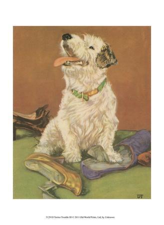 Terrier Trouble III--Art Print