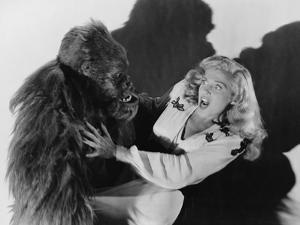 Terrified Woman Being Attacked by Gorilla