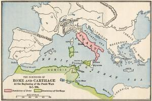 Territories of Rome and Carthage at the Outset of the Punic Wars, 264 BC