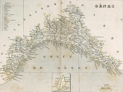 Territory of Genoa, from Maps of the Sardinian Kingdom--Giclee Print