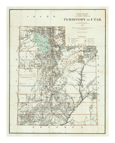Territory of Utah, c.1879--Art Print