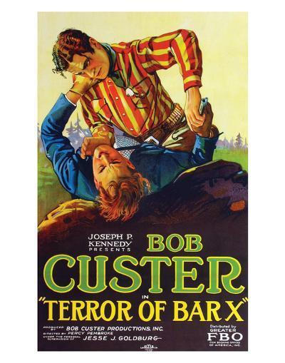 Terror Of Bar X - 1927--Giclee Print