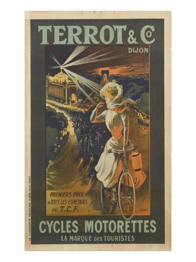 Terrot and Co, Dijon, premier prix à tous les concours, cycles Motorettes, la marque des touristes--Giclee Print