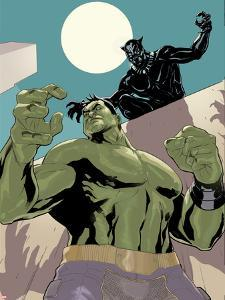 The Totally Awesome Hulk #10 Panel Featuring Black Panther, Totally Awesome Hulk by Terry Dodson