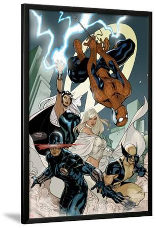 X-Men No.7 Cover: Spider-Man, Cyclops, Wolverine, Storm, and Emma Frost