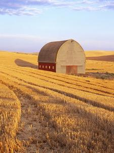 Barn in Harvested Field by Terry Eggers