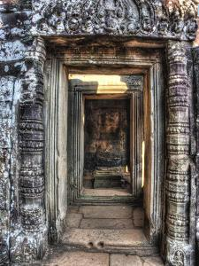 Cambodia, Angkor Watt, Siem Reap, Faces of the Bayon Temple by Terry Eggers
