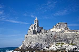 Church of San Pietro, Entrance to the Harbor, Portovenere, Italy by Terry Eggers