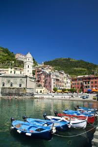 City and Church of Santa Margherita d'Antiochia of Vernazza, Italy by Terry Eggers