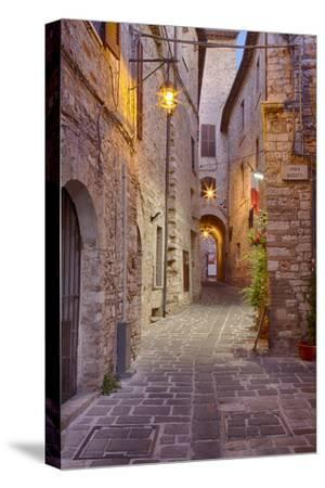Evening Light Along a Back Alley of Assisi by Terry Eggers