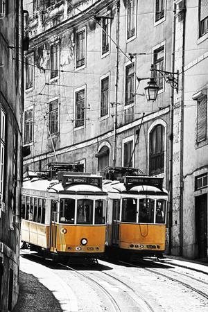 Portugal, Lisbon. Famous Old Lisbon Cable Car