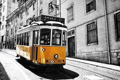 Portugal, Lisbon. Famous Old Lisbon Cable Car