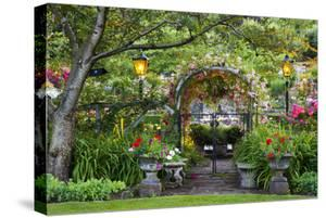 Rose Garden at Butchard Gardens in Full Bloom, Victoria, British Columbia, Canada by Terry Eggers