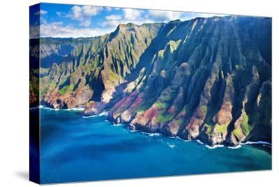 USA, Hawaii, Kauai, Aerial of the Coastline