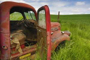 USA, Washington State, Old Colorful Field Truck in field by Terry Eggers