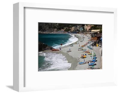 Vacationers Enjoying the Beach, Monterosso, Cinque Terre, Italy