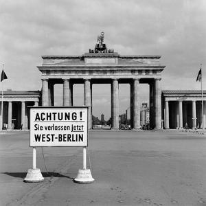 East-West Berlin Border 1961 by Terry Fincher