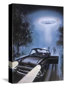 New Hampshire, Betty and Barney Hill Driving at Night See a UFO by Terry Hadler