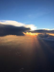 A Sunset from the Cockpit of a T-38 Airplane by Terry Virts