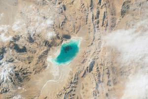 Iss View of an Alpine Lake on a Plateau by Terry Virts