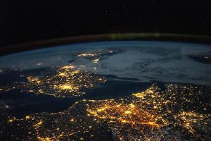 Iss View of the Lights of Western Europe by Terry Virts