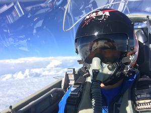 Test Pilot Captures a Self-Portrait While in the Cockpit by Terry Virts