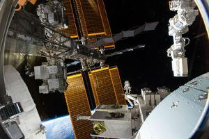 The Port Side of the Iss, Looking from the Japanese Kibo Module by Terry Virts