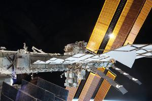 The Starboard Truss and the Solar Arrays of the Iss by Terry Virts
