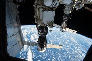 Two Russian Soyuz Spacecraft Attached to the Iss by Terry Virts