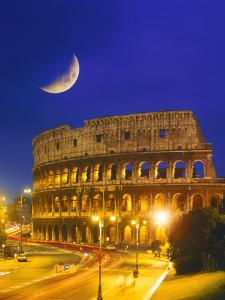 Colosseum at Night, Rome, Italy by Terry Why