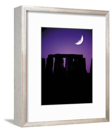 Crescent Moon Over Stonehenge, England