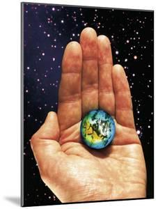 Hand Holding the World by Terry Why