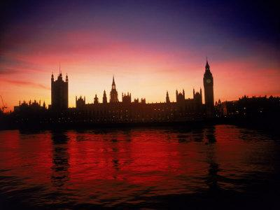 Houses of Parliament at Dusk, London, England