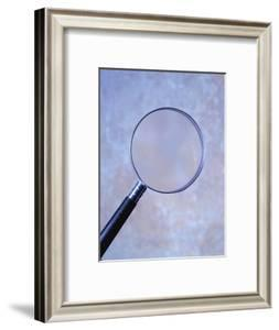 Magnifying Glass and Blue Background by Terry Why