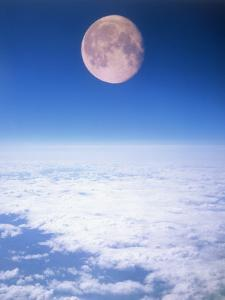Moon Above the Clouds by Terry Why