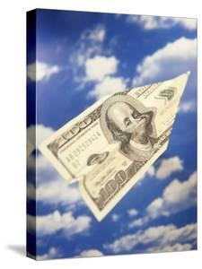 Paper Plane Made from Hundred Dollar Bill by Terry Why