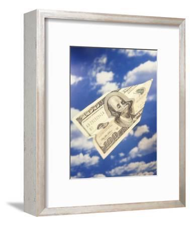 Paper Plane Made from Hundred Dollar Bill