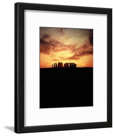 Sunset Behind Stonehenge, England
