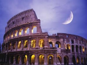 The Colosseum at Night, Rome, Italy by Terry Why